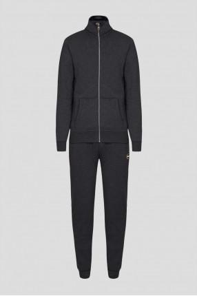Мужской темно-серый спортивный костюм (кофта, брюки)