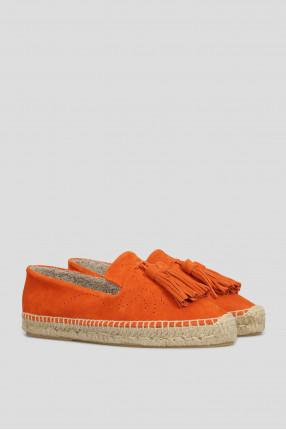 Женские оранжевые замшевые эспадрильи 1
