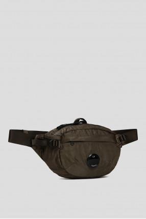 Мужская зеленая поясная сумка 1