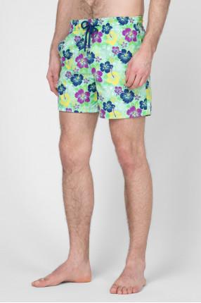 Мужские салатовые плавательные шорты  1