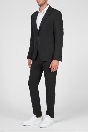 Мужской темно-серый костюм (блейзер, брюки) 1