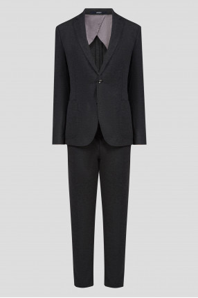 Мужской темно-серый костюм (блейзер, брюки)