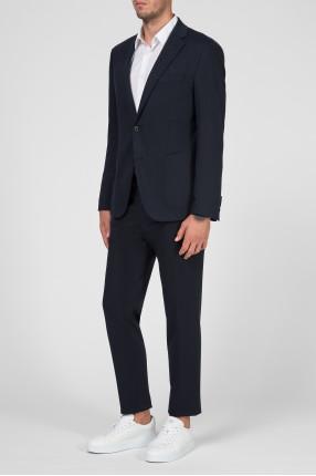 Мужской темно-синий костюм (блейзер, брюки) 1