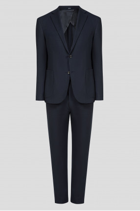 Мужской темно-синий костюм (блейзер, брюки)