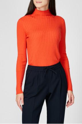 Женский оранжевый шерстяной гольф 1