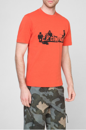 Мужская оранжевая футболка 1