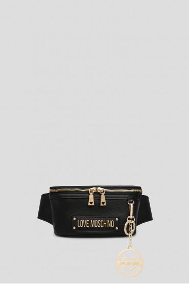28f2bb0d4226 Женская черная кожаная поясная сумка Love Moschino JC4163PP17L60000 —  Saks'85