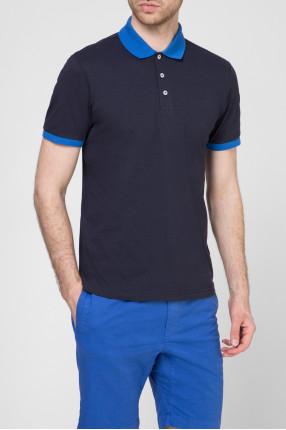 Мужское темно-синее поло 1