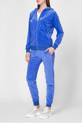 Женский синий спортивный костюм (худи, брюки) 1