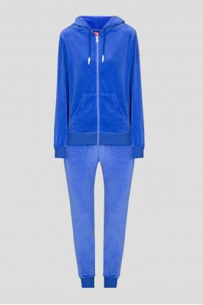 Женский синий спортивный костюм (худи, брюки)