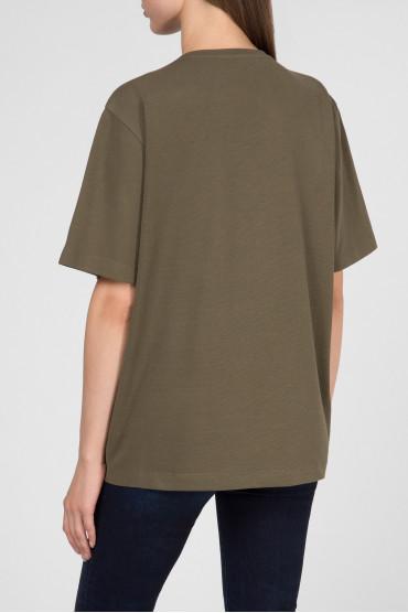 Женская зеленая футболка 3