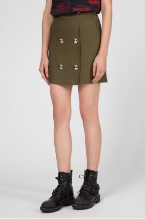 Женская зеленая юбка  1