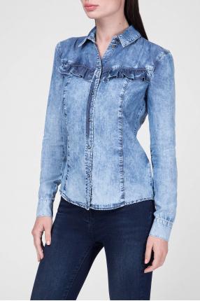 Женская голубая рубашка 1
