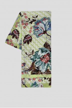 Женский салатовый шелковый платок