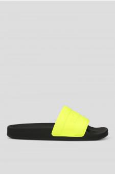 Женские желтые слайдеры