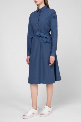 Женское темно-синее платье 1