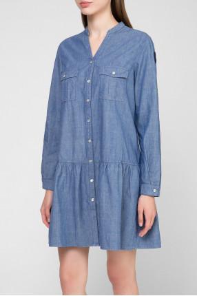 Женское синее платье 1