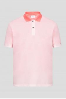 Мужское розовое поло
