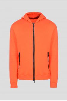 Мужское оранжевое худи