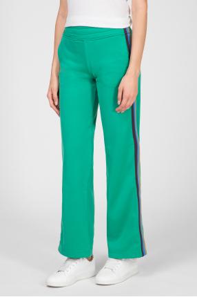 Женские зеленые спортивные брюки 1