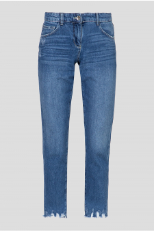 Женские голубые джинсы Cigarette