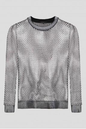 Женский серебристый свитшот