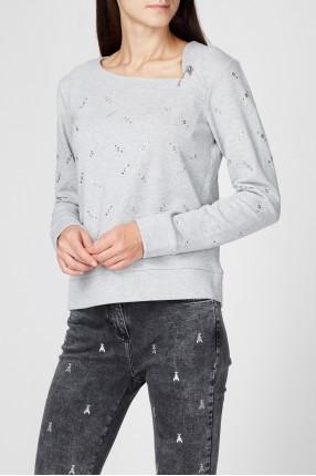 Женский серый свитшот 1