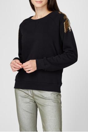 Женский черный свитшот 1