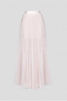 Женская розовая юбка-плиссе
