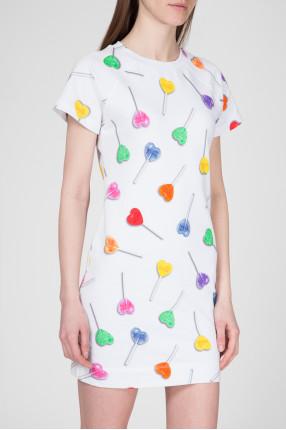 Женское белое платье  1