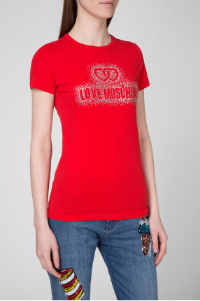 Женская красная футболка 1