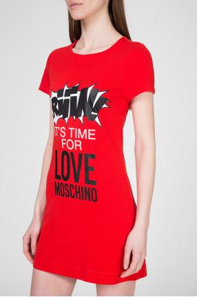 Женское красное платье  1