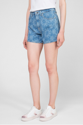 Женские голубые джинсовые шорты 1