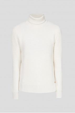 Мужской бежевый шерстяной свитер