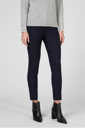 Женские темно-синие шерстяные брюки 1