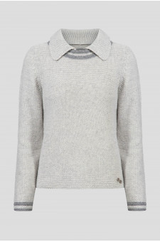 Женский серый шерстяной свитер