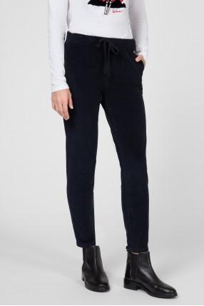 Женские темно-синие вельветовые брюки 1