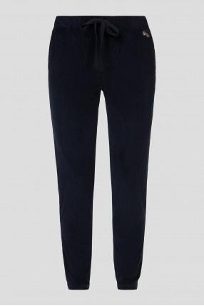 Женские темно-синие вельветовые брюки