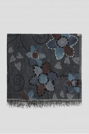 Мужской серый шерстяной шарф 1