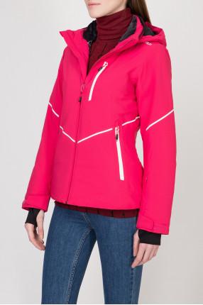 Женская розовая лыжная куртка 1