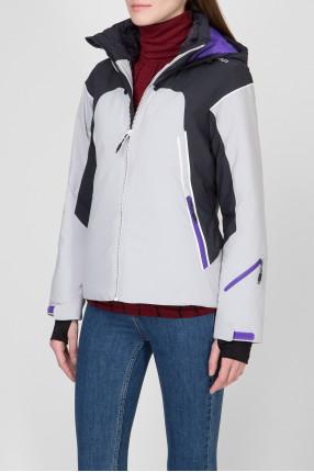 Женская серая лыжная куртка 1
