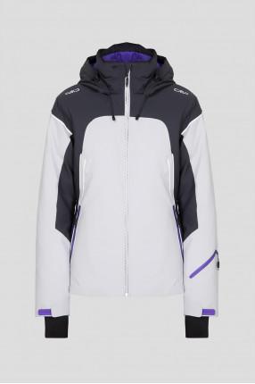 Женская серая лыжная куртка
