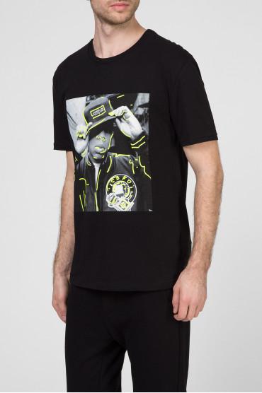 Мужская черная футболка 2
