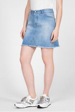 Женская голубая джинсовая юбка 1
