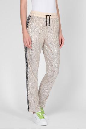 Женские бежевые спортивные брюки 1