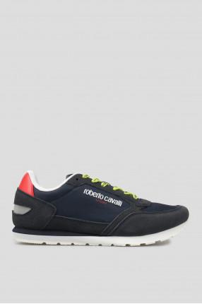 Мужские темно-синие замшевые кроссовки