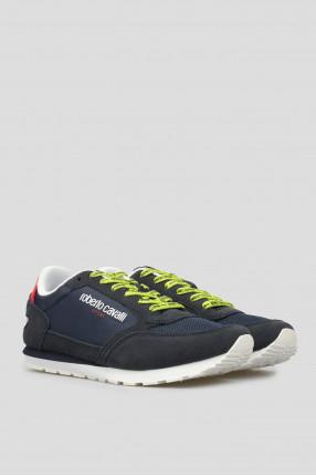 Мужские темно-синие замшевые кроссовки 1