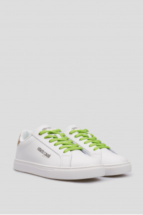 Женские белые кожаные кроссовки  1