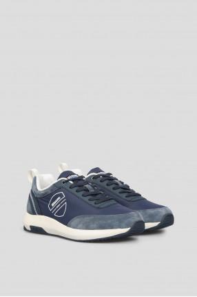 Мужские синие замшевые кроссовки 1