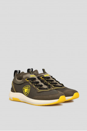Мужские зеленые кроссовки 1